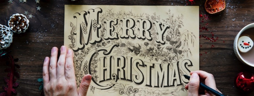 Lettering Merry Xmas