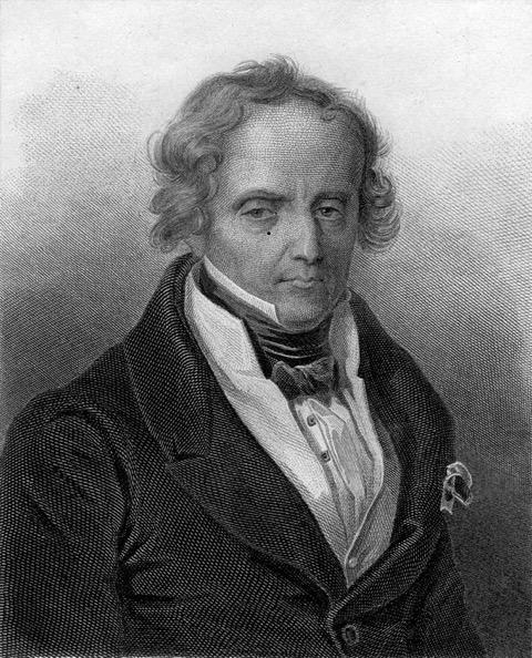 Portrait von Xavier de Maistre, Stich von Cyprien Jacquemin